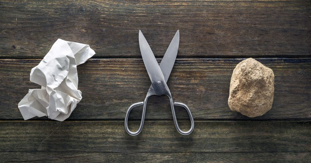 Rock, Paper, Scissors is a Popular Way to Make a Decision.