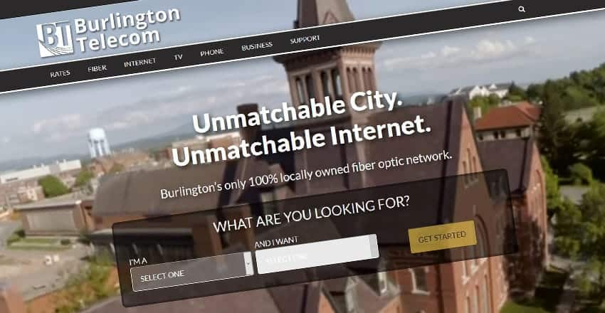 Mediastead Portfolio - Burlington Telecom Website Screenshot