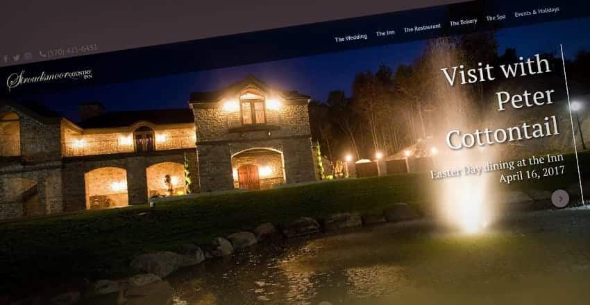 Mediastead Portfolio - Stroudsmoor County Inn Website Screenshot