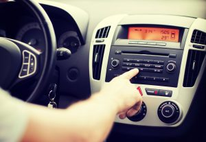 Radio and offline advertising in vehicle with driver